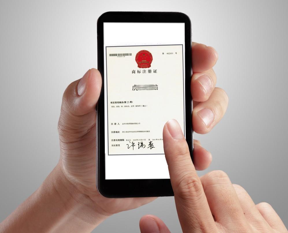 万文知识产权管理机构 商标注册证书样本