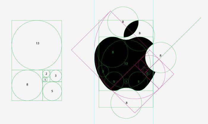 苹果 logo标准制图