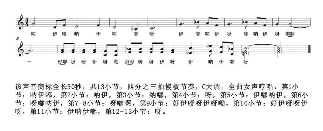 泸州老窖声音商标乐谱