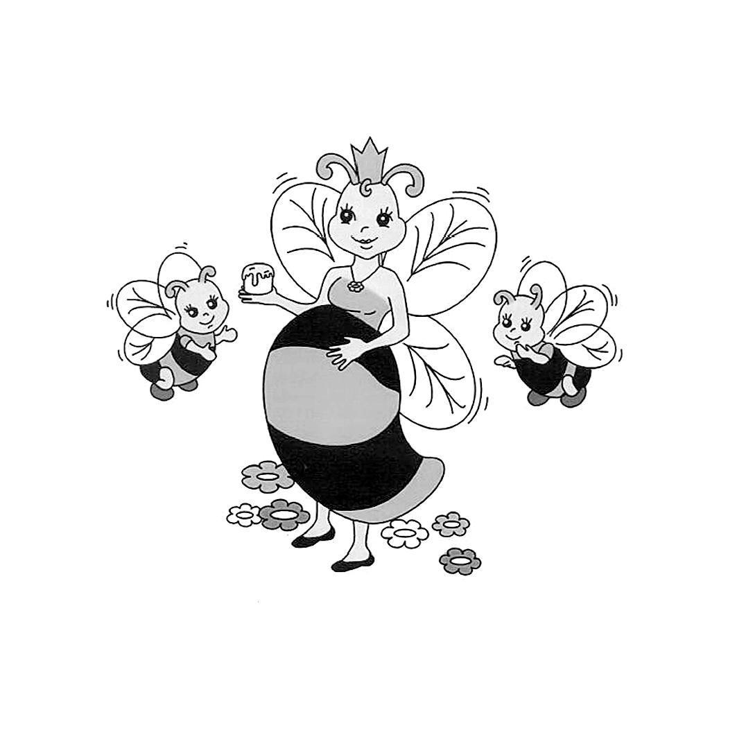 蜜蜂与幼蜂,29246313#最美商标# #蜜蜂#