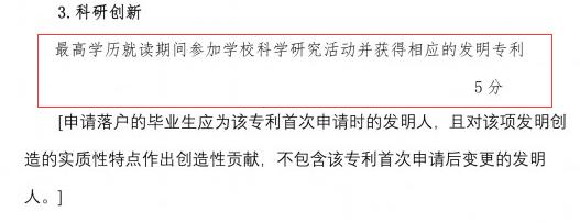 落户上海,发明专利加5分!
